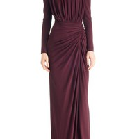 Givenchy Ruched Stretch Jersey Gown | Nordstrom
