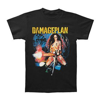 Damage Plan Men's  Tattoo Chick T-shirt Black Rockabilia