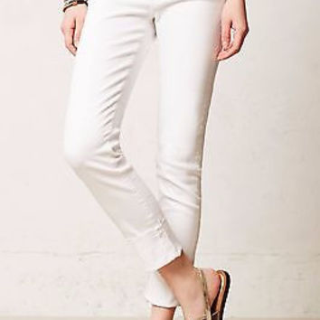 AG Adriano Goldschmied Stevie Slim Straight Cuffed Jeans 32 Anthropologie NWT