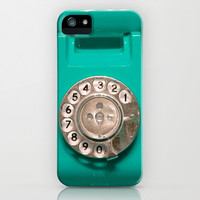 OLD PHONE - AQUA GREEN EDITION for Iphone iPhone & iPod Case by Simone Morana Cyla