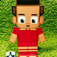 Spain football soccer craft activity. Printable paper toy. Instant download. Make you own cards, banners and football soccer bunting!