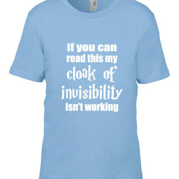 Harry Potter Inspired Kids Clothing - Cloak of Invisibility Crew Neck - Unisex Youth