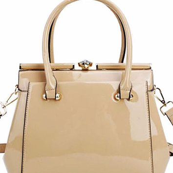 Fit For a Queen Hand Bag Beige