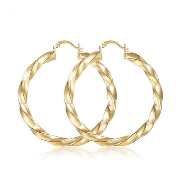 Twisted 18k of Gold-Filled earring hoops