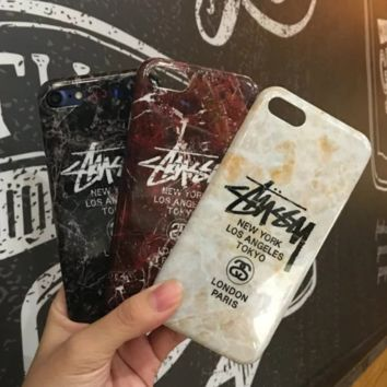 Trendy Stussy Marble Pattern Iphone 7 7 Plus & 6 6s Plus Cover Case