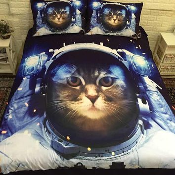 Cool 3D Cat Kawaii Bed Linen Bedding Sets Comforter Bed Cover Quilt Cover Duvet Cover Set Queen King Size Bedding Double Bed SheetsAT_93_12
