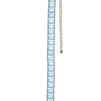 Hard Candy Light Blue Stone Belt