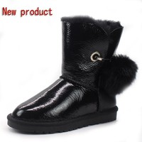 Half price winter new 100% natural Australian sheepskin wool snow boots warm non-slip female boots in the boots free shipping