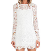 For Love & Lemons Love Bird Dress in White