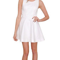 Perfect For You Dress - White Leather