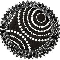 Standard Clearcup Baking Cup-Circle Dots Black