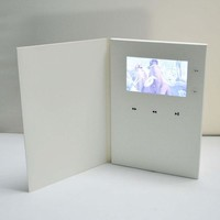 2.4/2.8/4.3/5/7/10  inch Customized Printing Video Player Greeting Card Business and Invitation Brochure Sample Order