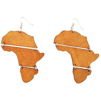 Melanated Africa earrings | Africa shaped | African | Natural hair | Afrocentric | jewelry