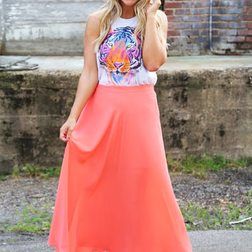 Peach Harvest Maxi Skirt