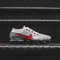 Nike Air VaporMax FK - Pure Platinum / Red / Black