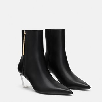 FASHION WEDGE ANKLE BOOTS DETAILS