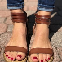 Come Through Sandal- Brown