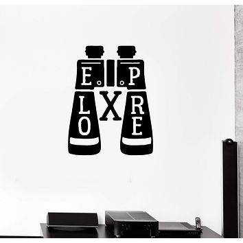 Wall Decal Binocular Tourism Expedition Travel Discovery Explore Vinyl Sticker (ed1260)