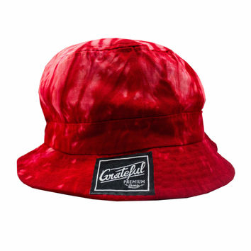 Tie Dye Flow Bucket - Red