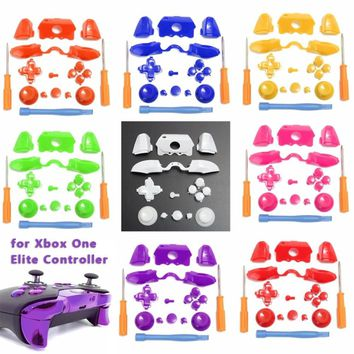 9 Colors Spare Parts Bumper Trigger Button D-pad LB RB LT RT for XBOX ONE Elite /3.5mm NEW XBOX ONE Controller Relacement Parts