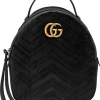 Gucci GG Marmont 2.0 Matelassé Quilted Velvet Backpack | Nordstrom