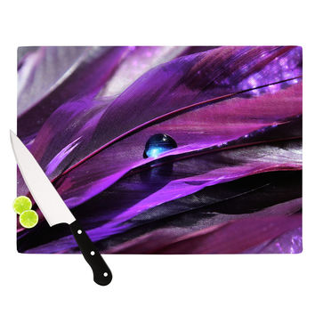 "Susan Sanders ""Birds of a Feather"" Nature Purple Cutting Board"