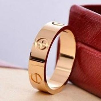 Cartier Fashion Trending Cute couple rings women ring rhinestone ring on simplicity G