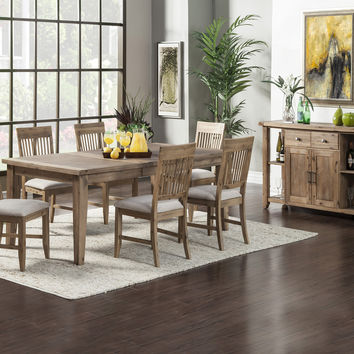 Alpine Aspen Extension Dining Table with Butterfly Leaf