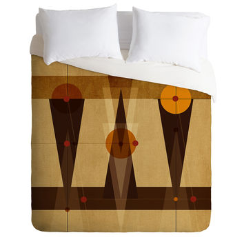 Viviana Gonzalez Geometric Abstract 4 Duvet Cover