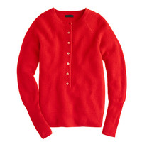 COLLECTION CASHMERE WAFFLE HENLEY