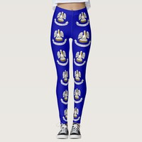 Leggings with flag of Louisiana State, USA