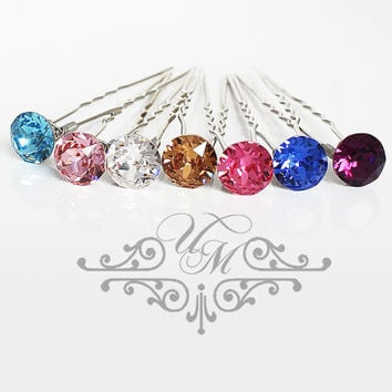 Set of 6 Swarovski Crystal hair pins Wedding Hair pins Wedding hair Accessories Bridal Bridesmaids hair pins Swarovski rhinestone Headpiece