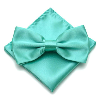 Fashion Mens Bow Ties Pocket Square Set Tuxedo Party Neckties Butterfly Jacquard Bowtie Hanky 38 Colors