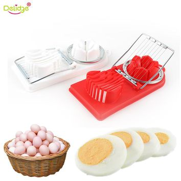 Delidge 1 pcs 2 in1 Egg Slicer Tools Stainless Steel Egg Cutter Machine Multifunction Egg Slicer Sectione Cutter Mold