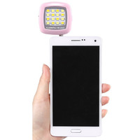 Pink Mini 3.5mm Jack 16 LED Selfie Flash Fill-in Light Cellphone Camera Pocket Spotlight Photo Portable iphone android