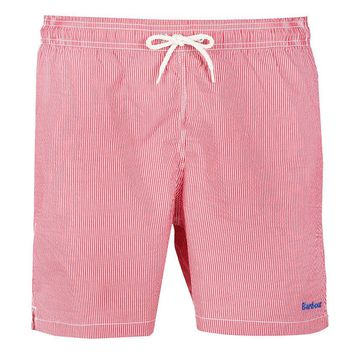 Striped Swimming Short in Red by Barbour - FINAL SALE