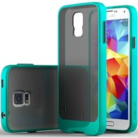 Galaxy S5 Case, Caseology® [Frostback Series] Translucent Matte Bumper [Shock Absorbent] for Samsung Galaxy S5 - Turquoise Mint