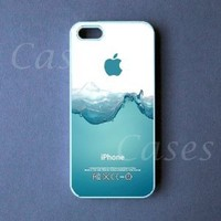 CUSTOM IPHONE 5 CASE Watersplash Iphone 5 Cover Funny LOVELY Pretty Cute BEST COOL: Cell Phones & Accessories