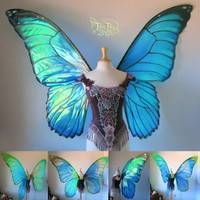 GIANT Morpho Butterfly Fairy Wings Made to Order