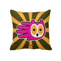 Owl Face Throw Pillows from Zazzle.com