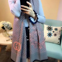 Best Online Sale Gucci Keep Warm Scarf Smooth Skin-friendly Scarves Winter Wool Shawl Style #2