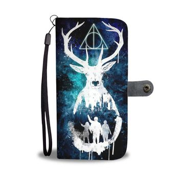 KUYOU Sign of the Deathly Hallows Harry Potter Wallet Phone Case