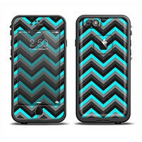 The Turquoise-Black-Gray Chevron Pattern Apple iPhone 6/6s Plus LifeProof Fre Case Skin Set