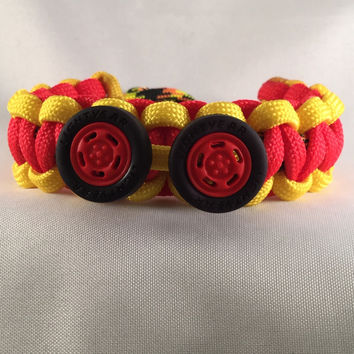 Lightning McQueens Tires - Children Paracord Heaven Survival Bracelet with Knot Closure