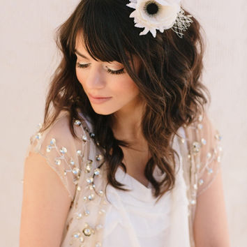 Bridal Mini Hat Bridesmaid Fascinator Wedding by LoBoheme on Etsy