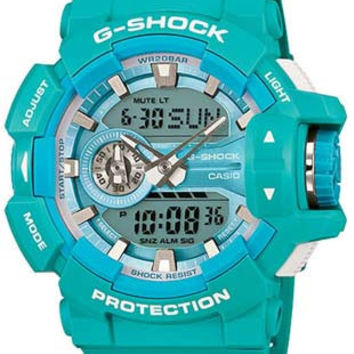 Casio Mens G-Shock Big Case Series - Aqua Blue - Analog -Digital - 200M WR
