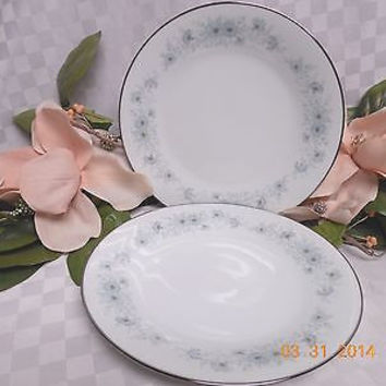 Noritake White China Dinnerware Japan Inverness Pattern # 6716 -2 Dinner  plate