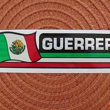 Bandera Guerrero Mexico Flag Reflective Sticker Coated Finish Decal 12x2/12