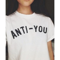 2015 new fashion short sleeve letter tee shirt funing couple clothes women tops casual t shirt = 1930321860