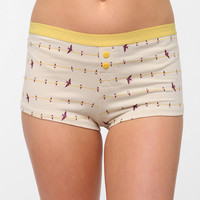 Printed Button-Fly Boyshort